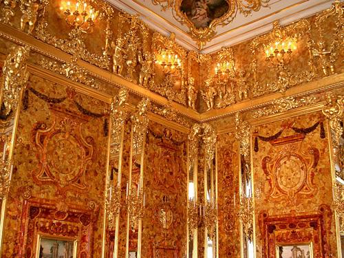 Chambre d'ambre Murs WIKIPEDIA inusite