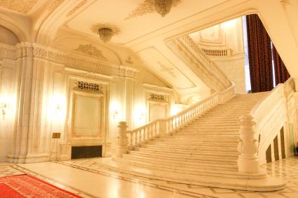 Parlement Bucarest escalier inusite