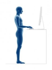 Position ergonomique debout. iStockphoto