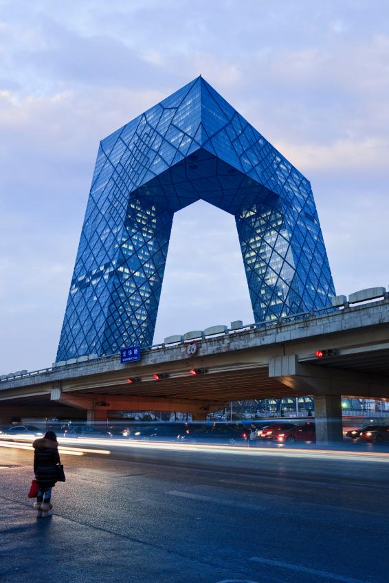 Siège de la télévision d'État CCTV à Pékin appelé aussi Le pantalon. Photo: iStockphoto