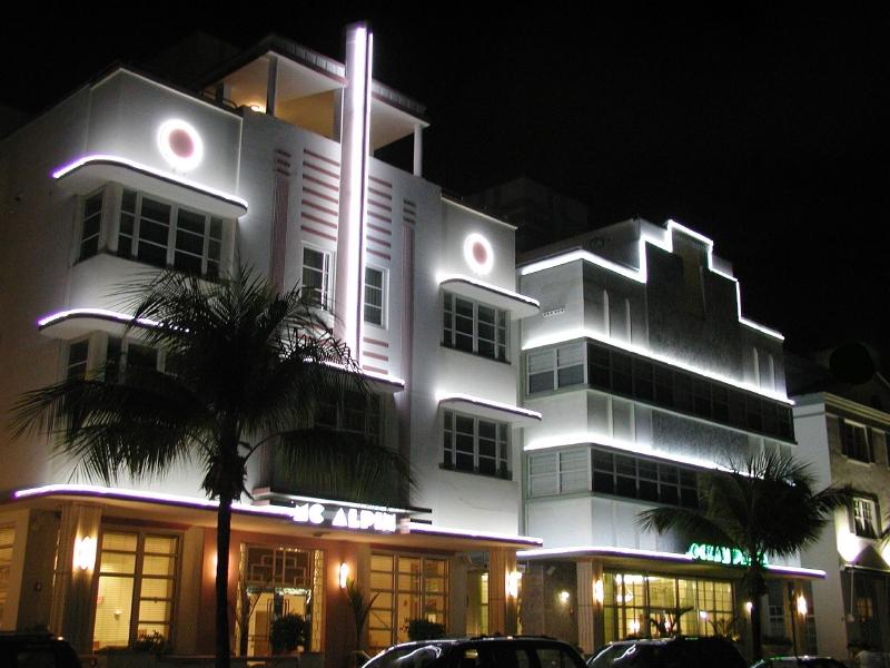 L'Art déco à Miami sur Ocean Drive.