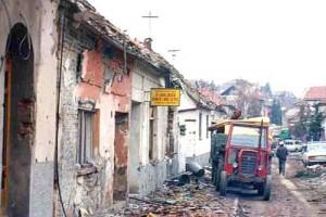 Guerre 1991 en Croatie, rue de Vukovar. Wikipedia Peter Denton