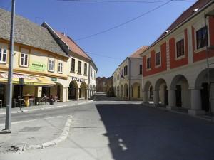 Vukovar, Franjo Tudjman Square. Wikipedia Mazbin.