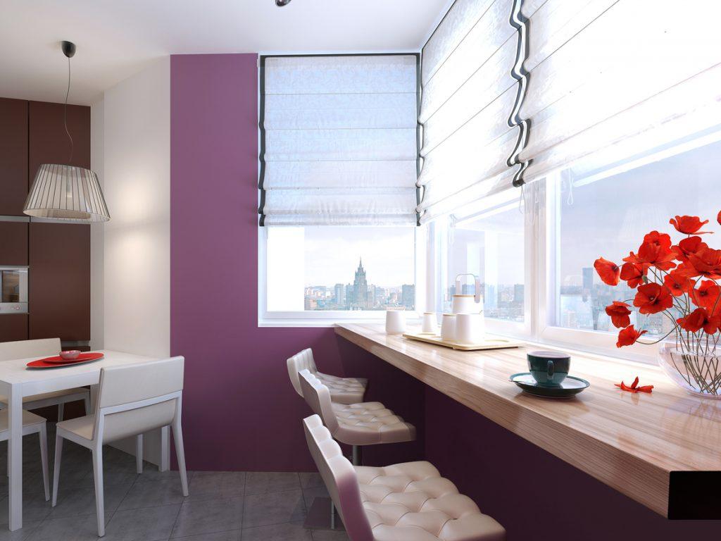 Высота барной стойки на кухне: комфортные габариты + фото пр.