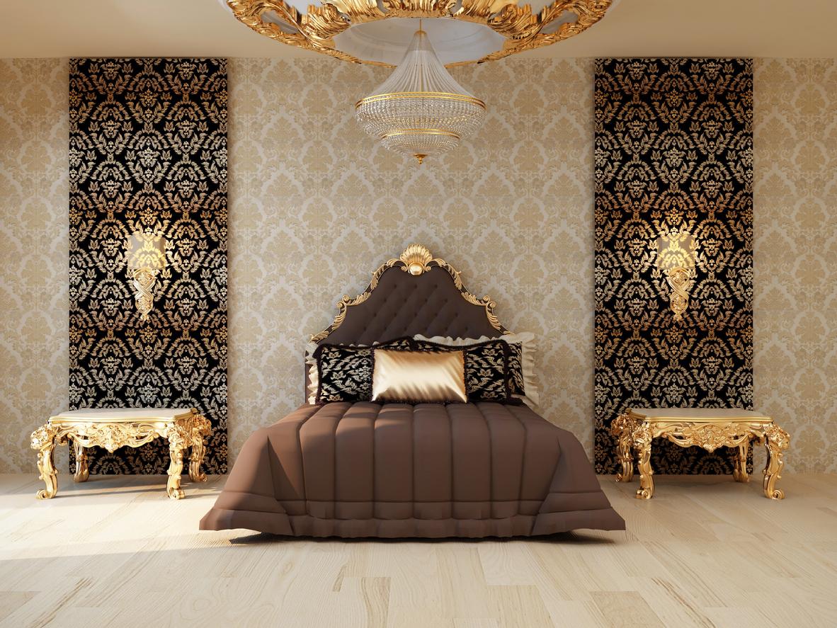 chambre coucher papier peint or brun ISTOCK deco - Blogue de ...