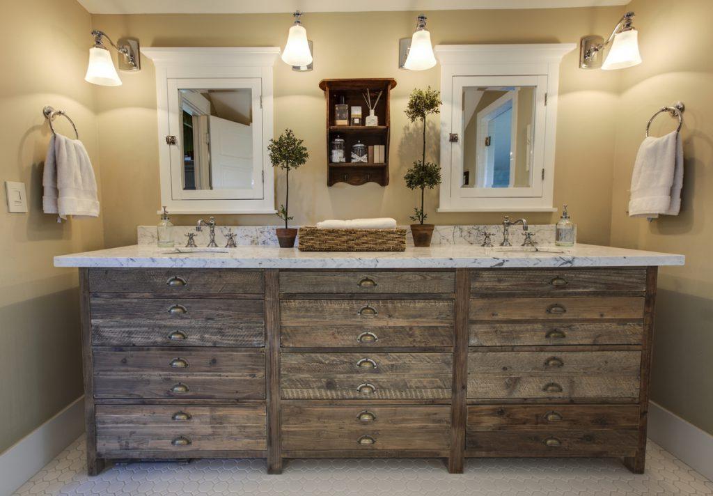 Style rustique - salle d'eau rustique