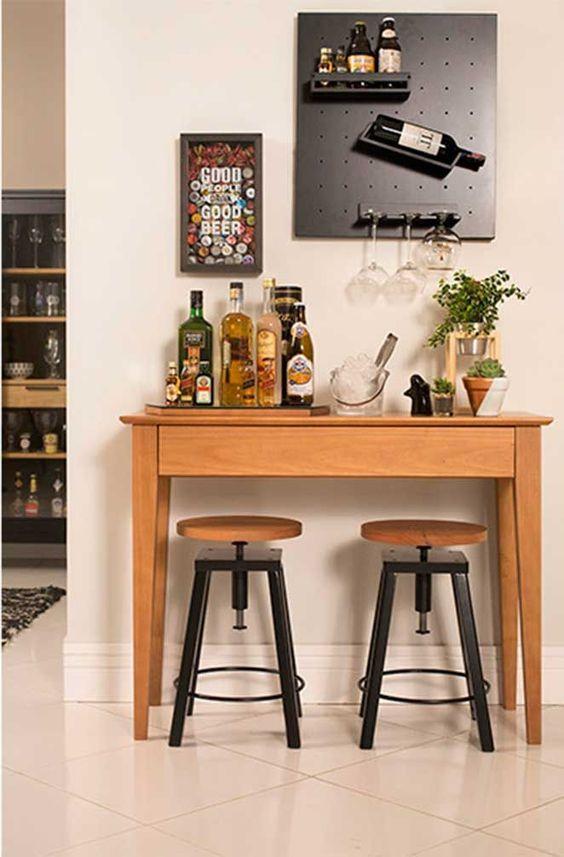 minibar wood stools