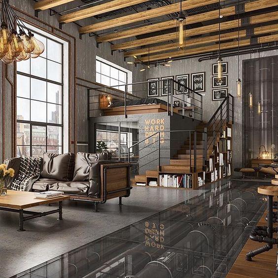 Industrial vintage loft