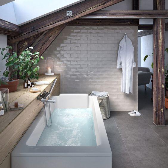 salle de bains sous de toit