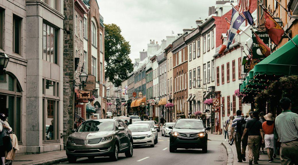 Rue St-Paul, Quebec City, Canada.